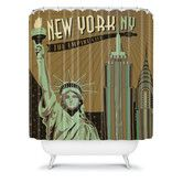 Found it at Wayfair - Anderson Design Group Woven Polyester New York Shower Curtain