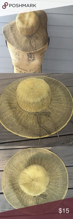 World market Large brim hat Perfect for all day in the sun or a special event. Purchased at world market. A great shade of brown. World market Accessories Hats