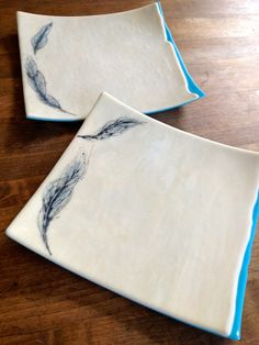 Glass Feather Dishes $65 each