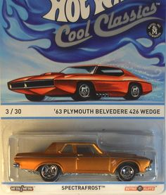 Hot Wheels COOL CLASSICS - '63 Plymouth Belvedere 426 Wed  DAMAGED Card - A case Car Costume, Plymouth Belvedere, Chevelle Ss, Hot Wheels Cars, Diecast, Cool Stuff, American, Classic, Garage
