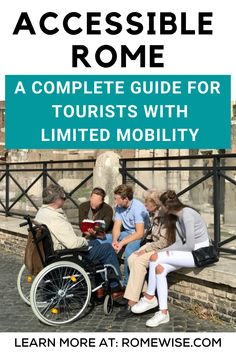 Looking for accessible Rome tips? Rome streets and sidewalks can be notoriously difficult to navigate as a pedestrian, let alone in a wheelchair or with a walking stick. Rome Travel, Italy Travel, Rome Tips, Rome Streets, Rome Attractions, Sidewalks, Pedestrian, Trip Planning, Need To Know