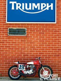 Triumph flat track style