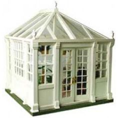"HOUSEWORKS 1"" Scale Dollhouse Miniature - Conservatory Kit, Unfinished (9900) 022931099007 B003IXV74Y"