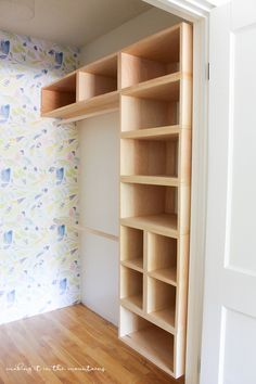 This brilliant DIY custom closet organizer is not only easy to build, but makes . This brilliant DIY custom closet organizer is not only easy to build, but makes creating your own custom closet configuration both simple and affordable! Diy Custom Closet, Custom Closet Design, Custom Closets, Closet Designs, Small Closet Design, Custom Design, Kid Closet, Closet Bedroom, Closet Space