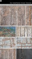 6 Weathered Wood Textures by HollowIchigoBanki