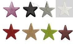 Glitterstern zum Hängen verschiedene Farben 25x25cm 0-000066 Glitzer Sterne