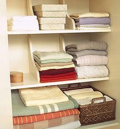 Storage for linens & towels & clothing.  Upsidedown shelf supports.