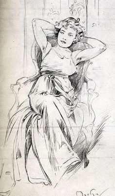 Inspirational Artworks: Mucha drawings and photographs