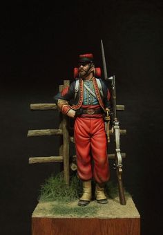 Illinois Zouave - Virtual Museum of Historical Miniatures Military Figures, Military Diorama, Civil War Art, Virtual Museum, Toy Soldiers, American Civil War, Armed Forces, Military Uniforms, Miniature Figurines