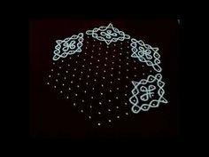 Simple and easy rangoli kolam design with 15 x 8 interlaced dots. Easy sikku kolam designs with dots. Indian Rangoli Designs, Colorful Rangoli Designs, Rangoli Designs Images, Beautiful Rangoli Designs, Rangoli With Dots, Simple Rangoli, Rangoli Patterns, Muggulu Design, Big Design