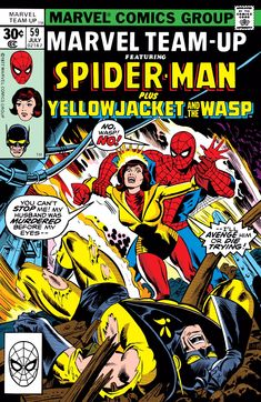 """Marvel Comics & Stan Lee Presents; Marvel Team-up: Featuring Spiderman Plus Yellowjacket and the Wasp """"Some Say Spidey Will Die by Fire"""" (Vol. Comic Books For Sale, Marvel Comic Books, Comic Books Art, Comic Art, Book Art, Comics Vintage, Old Comics, Manado, Caricature"""