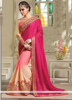designer saree. Look