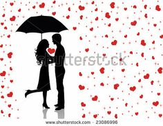 Find Silhouettes of man and woman standing and hugging on the red background. Woman holding an umbrella. Stock Images in HD and millions of other royalty-free stock photos, illustrations, and vectors in the Shutterstock collection. Kids Silhouette, Couple Silhouette, Silhouette Cameo, Love Drawings, Easy Drawings, Valentines Day Drawing, Kissing In The Rain, Under My Umbrella, Red Umbrella