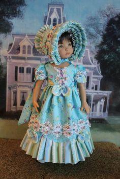 "13"" Effner's Little Darling's ""SWEET BLUE WIND"" Regency Gown Ensemble #DiannaEffner"