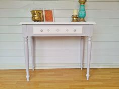 upcycled painted stenciled furniture - Entrance table