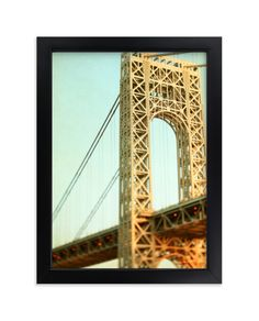 """Bridges Of New York - Art Print by ALICIA BOCK in beautiful frame options and a variety of sizes. Evening Sky, Summer Evening, New York Bridge, Washington Heights, Nyc Art, New York Art, George Washington Bridge, City Art, Home Wall Art"