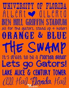 University of Florida Gators Subway Art Digital by BeyerDesigns, $12.00