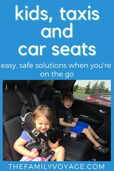 What should you do about traveling with kids if you'll need to take a taxi? Kids in taxis need to be in a car seat just like they would be in a regular car and there are some innovative, travel-worthy products available to make your life easier. Check out Travel Tips With Toddlers, Toddler Travel, Travel With Kids, Family Travel, Traveling With Baby, Traveling By Yourself, Best Booster Seats, Disneyland, Travel Car Seat