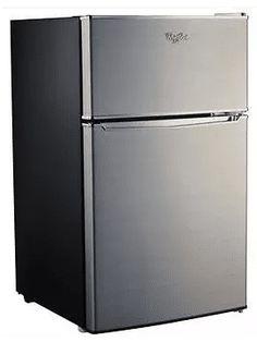 Whirlpool Compact Refrigerator Freezer Fridge Kitchen Appliance Counter Depth Small Stainless Steel Mini