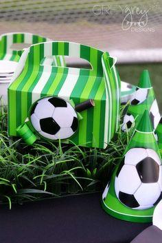 Soccer birthday party ideas photo 1 of 42 catch my party. Soccer Birthday Parties, Soccer Party, Sports Party, Soccer Ball, 10th Birthday, Birthday Ideas, Soccer Theme, Football Field, Football Season