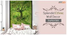 This gorgeous tapestry is sure to change the ambiance of the room and transform even a plain wall into exotic art effect.