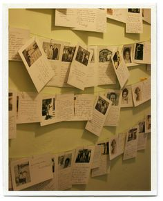 Print a variety of small photos of the guest of honor with space for guests to write a note about them.