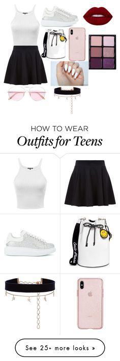 """Untitled #19"" by motoceabian on Polyvore featuring Alexander McQueen, Joshua's, Oliver Peoples, Diane Kordas and Viseart"