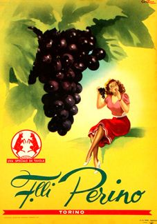 Perino Grapes Torino Italia Italy - Mad Men Art: The Vintage Advertisement Art Collection Retro Poster, Poster Ads, Poster Vintage, Vintage Travel Posters, Art Posters, Vintage Italian Posters, Vintage Advertising Posters, Vintage Advertisements, Print Advertising