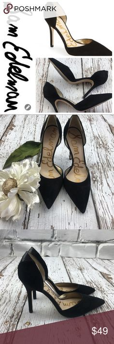"💕SALE💕Sam Edelman Black Suede Leather Heels Gorgeous 💕Sam Edelman Black Suede Leather 3 1/2"" Heels comes with nonslip on bottom Like New Sam Edelman Shoes Heels"