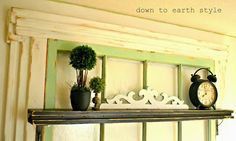 Down to Earth Style - make an old window headboard