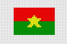 Flag of Burkina Faso Pixel Art from BrikBook.com #BurkinaFaso #FlagofBurkinaFaso #WestAfrica #Burkinabe #Ouagadougou #pixel #pixelart #8bit Shop more designs at http://www.brikbook.com