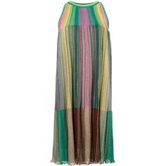 M Missoni rainbow dress ($770) ❤ liked on Polyvore featuring dresses, multicolored dress, rainbow dress, multi print dress, m missoni and m missoni dress