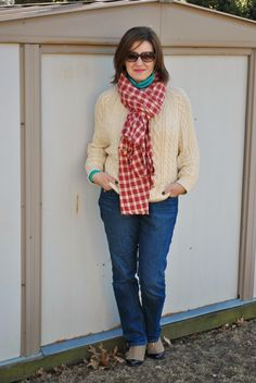 Fisherman's Sweater and DIY Blanket Scarf http://akstylemyway.blogspot.com/