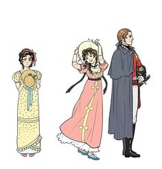 Pride and Prejudice :Kitty,   Lydia & Mr. Wickham