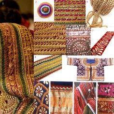 Indian Fashion - Gota Patti Borders by DesiCrafts
