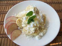 Jablečné knedlíčky  jednoduché -recept od babičky