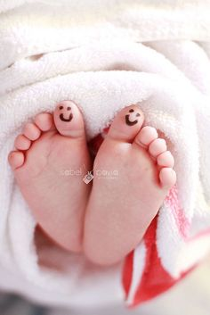 sweet little baby toes