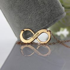 Engraved Rose Gold Infinity Name Necklace