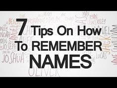 7 Tips How To Remember Names | Helping Other People Recall Your Name | #business #skillset #memory