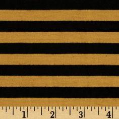 Ponte Roma Knit Stripes Mustard