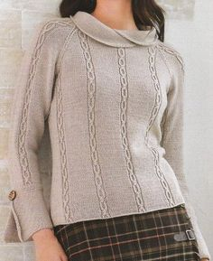 Woman's pullover - http://www.knitchart.com/item/40pullover.html