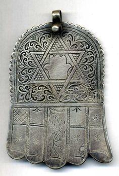 Morocco JUDAICA Old Silver Hand of Fatima  JEWISH by TIFINAGH