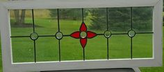Old English Red Stained Glass Window