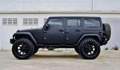Matte Black Jeep Wrangler Wallpaper - http://wallpaperzoo.com/matte-black-jeep-wrangler-wallpaper-37212.html  #MatteBlackJeepWrangler