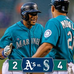 #Mariners ride three long balls to series-opening win over #Athletics. 9/12/14