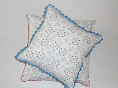 Handmade Blue Red and White Mod Starburst Pattern Throw by CZamore, $12.00