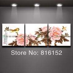 "3 Panel Wall Art Famous Traditional Chinese Flower Painting Peony home decoration art painting Free Shipping $<span itemprop=""lowPrice"">13.97</span> - <span itemprop=""highPrice"">40.97</span>"