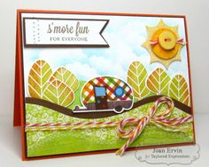 August SOTM S'more Fun!! Card by Joan Ervin #Cardmaking, #SummerFun, #Stampofthemonth, http://tayloredexpressions.com/kits.html