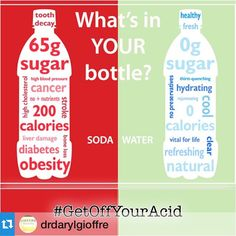 #Repost @drdarylgioffre with @repostapp.・・・32 (12oz) glasses of water is what it takes to neutralize the acid in 1 can of Soda! #GetOffYourAcid