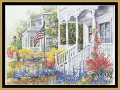 Summer Homes [AP-09] - $16.00 : Mystic Stitch Inc, The fine art of counted cross stitch patterns